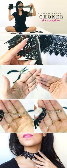DIY Choker de renda / Lace Choker