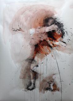 Ewa Hauton ink on paper Kunst Inspo, Art Inspo, Kunst Portfolio, Modern Art, Contemporary Art, Figurative Kunst, Beautiful Dark Art, Graphic Artwork, Identity Art