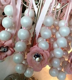 Tiffany Pink Candy Buffet by The Candy Brigade. Created for baby shower in NYC. Shower Favors, Shower Party, Party Favors, Bridal Shower, Tiffany's Bridal, Ballerina Baby Showers, Ballerina Party, Shower Bebe, Girl Shower