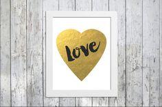 Love Heart Print  Valentine's Day  Instant Download by PepperMache #valentinesday #valentines #day #printable #art #wedding #love #gift
