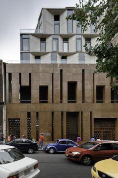 Spain's Cultural Center / JSª Unusual Buildings, Modern Buildings, Facade Architecture, Contemporary Architecture, Amazing Architecture, Agi Architects, Spain Culture, México City, Arched Windows