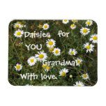 """Daisies for Grandma! Rectangular Photo Magnet -                                    Daisies for Grandma! Rectangular Photo Magnet  $  5.90  by Snowpeaceful    mothers day: Zazzle.com Store: Matching """"mothers day""""  http://47beauty.com/daisies-for-grandma-rectangular-photo-magnet/"""
