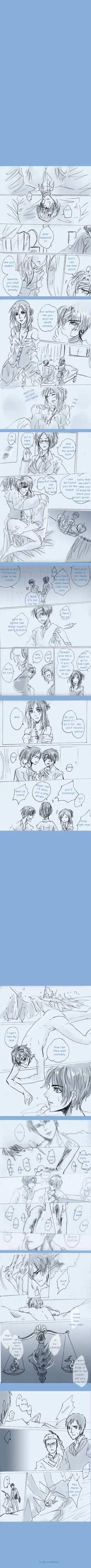 SnK'AU : Pirate!Levi x Mermaid!Eren part15 by illuscarymono.deviantart.com on @DeviantArt