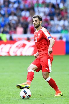 Admir MEHMEDI of Switzerland during the European Championship match Round of 16 between Switzerland and Poland at Stade GeoffroyGuichard on June World Football, European Championships, Captain America, Switzerland, Poland, June, Running, Superhero, Capitan America