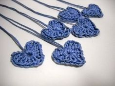 Crochet Blue Hearts, via Etsy.