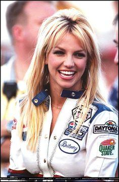 Britney at the Nascar Pepsi 400 in 2001.