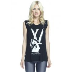 TESS PEACE & LOVE SHORT SLEEVE TEE WITH INSERTS