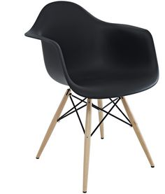 Eames DWR Armchair in black - Matt Blatt