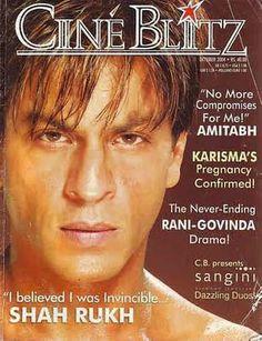 SRK - Cine Blitz magazine cover October 2004