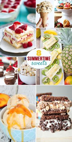 8 Summertime Sweets that are perfect for taking to those BBQs , pool parties and picnics....or just to keep you cool!