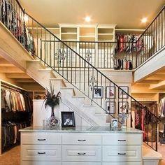 Two level master closet