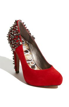 I absolutely love these shoes in black or red. I am so over super high heels.  Just can't do it anymore.  But, I love them from a far.