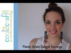 How to Make Plastic Straw Dangle Earrings by Savannah Starr - http://videos.silverjewelry.be/earrings/how-to-make-plastic-straw-dangle-earrings-by-savannah-starr/