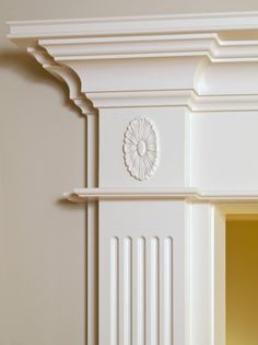 Luxury Home ceiling column white ornamental moulding detail by Anthony Berenyi, via ShutterStock Classic House Design, House Front Design, Wooden Cornice, Decoration Baroque, Plaster Ceiling Design, Plafond Design, Wall Molding, Molding Ideas, Ornamental Mouldings