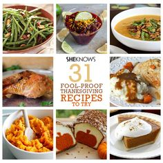 31 fool-proof Thanksgiving recipes #thanskgiving