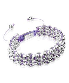 Look at this Pink & Silvertone Kismet Links Bracelet on #zulily today!