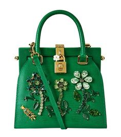 Dolce & Gabbana Mini Iguana Print Top Handle Bag available to buy at Harrods. Shop designer fashion online and earn Rewards points.
