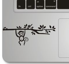 Monkey  mac sticker mac decal macbook sticker by CreativeHowShop, $4.99