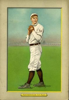 1911 Turkey Red Cabinets T3 #27 Christy Mathewson Front