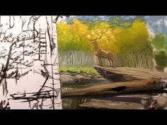 How To Paint A Forest Mural - PART 2 - Getting Paint On The Wall - YouTube