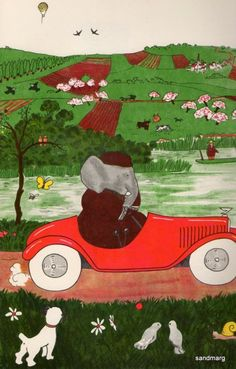 Babar Drives his Car. 1933.