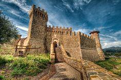 Castello di Amorosa in Napa Valley, CA.