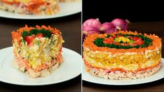 Timbale Recipe, Cooking Videos, Cooking Recipes, Russian Recipes, Salad Bar, Cheesecake, Tasty, Favorite Recipes, Desserts