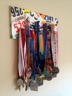 DIY Race Bib Holder | DIY medal display hanger or rack