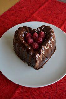 Growing Up Veg: Double Chocolate Mini Bundt Cake with Fresh Raspbe...