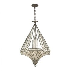 QZ6622 JAUSTEN BRONZE CHANDELIER  This piece is customize-able to your size, finish and color preference and ships free worldwide!!