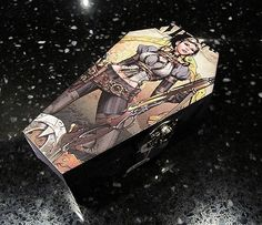 Lady Mechanika Comic Coffin  Gothic Horror by nightmaresknickknack Lady Mechanika, Gothic Horror, Nerd Geek, Keepsake Boxes, Coffin, Steampunk, Geek Stuff, Comics, Trending Outfits