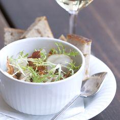 Use elegant bowls and platters for serving.