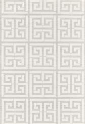 This Greek Key on Sisal Wallcovering by Schumacher is Divine