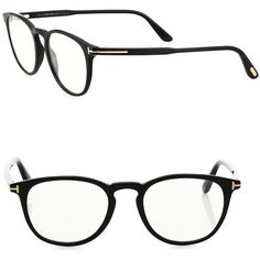 Tom Ford 51MM Clip-On Acetate Optical Glasses (4,070 HKD) ❤ liked on Polyvore featuring men's fashion, men's accessories, men's eyewear, men's eyeglasses, apparel & accessories, black and tom ford mens eyeglasses