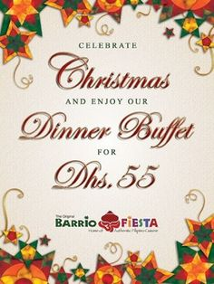 229 best barrio fiesta menu images on pinterest fiesta menu dubai barrio fiesta is offering a special christmas dinner buffet for only dhs enjoy filipino cuisine and hospitality at m4hsunfo