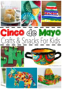 Cinco de Mayo Crafts and Snacks for Kids Celebrate Cinco de Mayo with kids! Great collection of crafts and snacks that you can make with your toddler, preschooler, or elemetnary aged child to help them learn about Mexico and Mexican culture. Kids Crafts, Toddler Crafts, Preschool Activities, Arts And Crafts, Toddler Snacks, Toddler Preschool, Easy Crafts, Spring Activities, Cork Crafts
