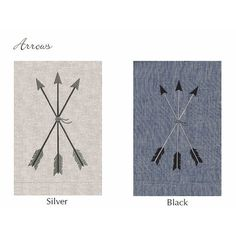 Anali Arrows Embroidered Shower Curtain