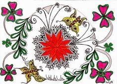Lieschens-Bilder: Zentangle 238 Diva Chellenge #214