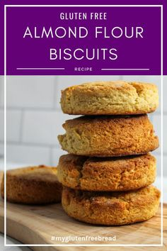 If you're looking for a grain free, gluten free biscuit, you have come to the right place! These almond flour biscuits are so light and so tender, they just might be your new favorite biscuit! They are the perfect biscuit for ANY meal! #glutenfreebread #grainfree #lowcarbrecipes #biscuits #almondflour Gluten Free Quick Bread, Gluten Free Biscuits, Paleo Bread, Gluten Free Treats, Yeast Bread, Dairy Free Recipes, Bread Recipes, Low Carb Recipes, Almond Flour Biscuits