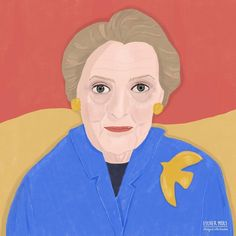 """Esther Mols 🖍 Illustrator op Instagram: """"I illustrated Madeleine Albright for @zinmagazine. I really like how it turned out in print. (Swipe right 👆) . #madeleinealbright…"""" Madeleine Albright, Famous People, Ronald Mcdonald, Illustrator, Portraits, Fictional Characters, Instagram, Art, Art Background"""