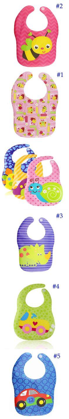1PC Baby Bibs Waterproof Silicone Feeding Baby Saliva Towel Wholesale Newborn Cartoon Waterproof Aprons Baby Bibs $2.28