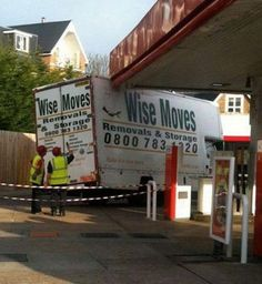 """FAIL! Wise moves, I don't think so, what's the slogan? """" We """"remove"""" your roof & """"store"""" it in the truck""""  Haha"""