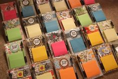 Post it note holders make great gifts and are very easy to make. I sell them at my Allied Arts booth in the fall and sell out every time. Crafts to sell Craft Fair Ideas To Sell, Craft Show Ideas, Diy Crafts To Sell, Post It Note Holders, Bazaar Crafts, Cricut, Craft Sale, Paper Gifts, Small Gifts