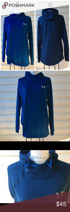 ♨️JUST IN♨️ Under Armour🏃🏼♀️Running Hoodie Royal blue in color. Slimmer fit than the regular hoodies. Zip up side pockets. Adjust pull strings to accommodate the hoodie. Under Armour Sweaters