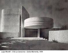 Luigi Moretti - Villa La Saracena - Santa Marinella, 1954 Beautiful Architecture, Beautiful Buildings, Interior Architecture, Luigi, Bauhaus, Design Movements, Art Deco, Brutalist, Residential Architecture