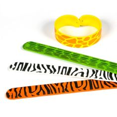 Silicone Animal Print Slap Bracelet (Bulk Pack of 12 Bracelets) at theBIGzoo.com, a toy store featuring 3,000+ stuffed animals.