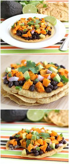 Black Bean and Sweet Potato Tostadas Recipe on twopeasandtheirpod.com One of our go to healthy meals!