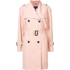 Mackage double breasted trench coat ($950) ❤ liked on Polyvore featuring outerwear, coats, pink double breasted coat, trench coats, pink coats, mackage and double breasted coat