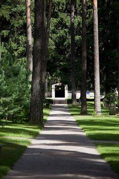 Skogskyrkogården (The Woodland Cemetery - Designed by Erik Gunnar Asplund & Sigurd Lewerentz. Built on the site of former gravel pits in Stockholm between 1917-20.