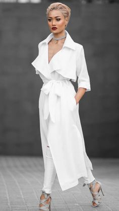 Woman All White Outfits outfits trends Classy Outfits, Stylish Outfits, Beautiful Outfits, Spring Fashion Outfits, Spring Fashion Trends, Fashion 2020, Fashion Brands, Micah Gianneli, All White Outfit
